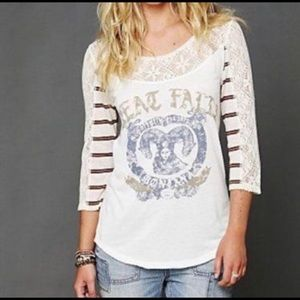 Free People • Great Falls Montana Graphic Tee • XS